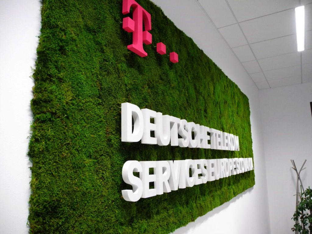 Velký plošný mechový obraz realizovaný firmou Greenvia